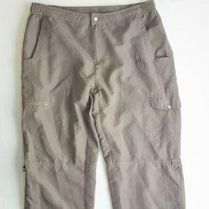 Wilson Womens Cargo Capri Sporty Green Pants Large